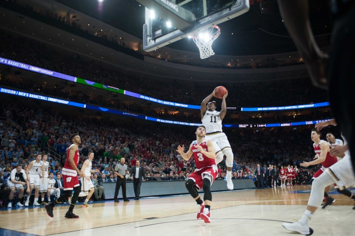 Irish junior guard Demetrius Jackson lays in the game-winning shot with 14 seconds left in Notre Dame's 61-56 win over Wisconsin on Friday in Philadelphia.