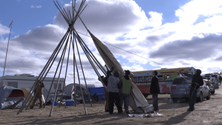 "Erin Lattimer, Ryan Leen - ""Peace At The Pipeline"" (Photo c/o Ted Mandell)"