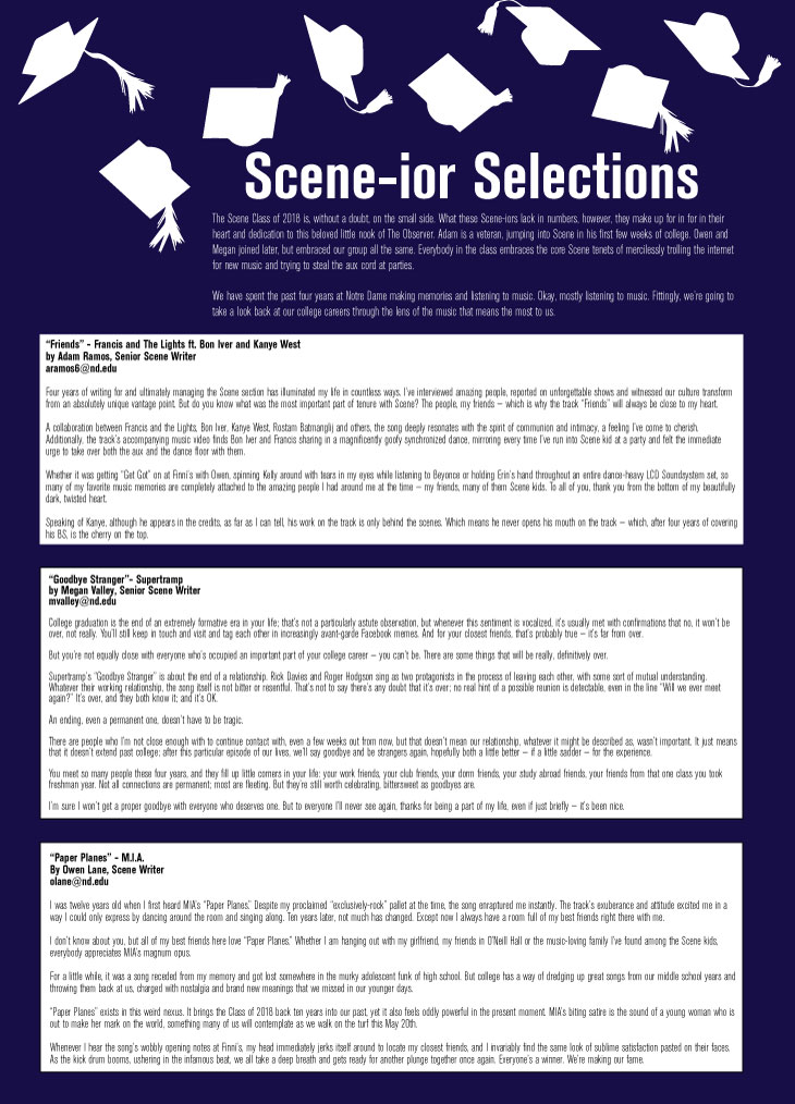 Scene-ior Selections // The Observer