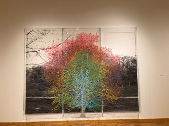 """Charles Gaines, """"Numbers and Trees, Central Park, Series I, Tree #9,"""" (2016)"""
