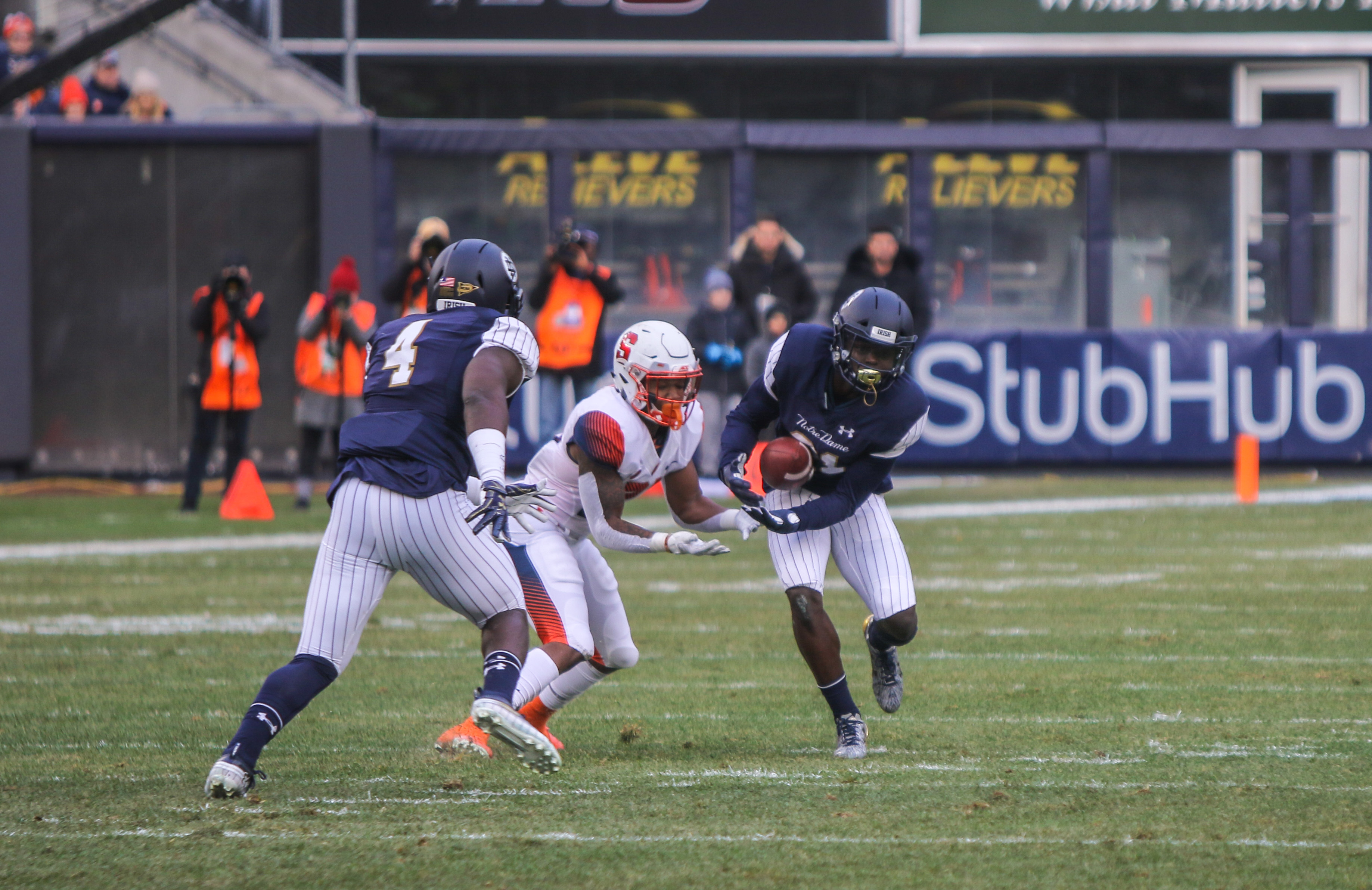 3f807a6d0 Notre Dame nearly shuts out Syracuse to remain perfect in Shamrock Series  games    The Observer