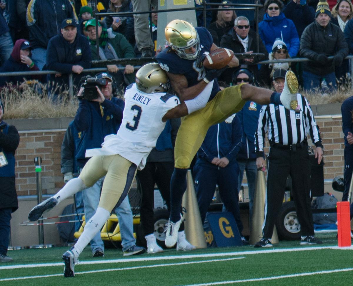 Chase Claypool shines with four touchdowns in Navy game