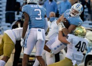 Linebackers and linemen shine in Irish's win over UNC