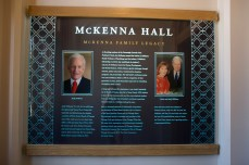 McKenna Hall is named after Andy McKenna, ND '51, and his late wife Joan.