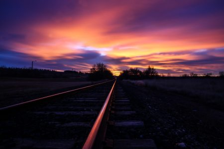 railroad-tracks-sunset
