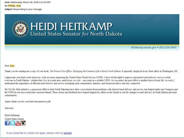 Heitkamp Letter
