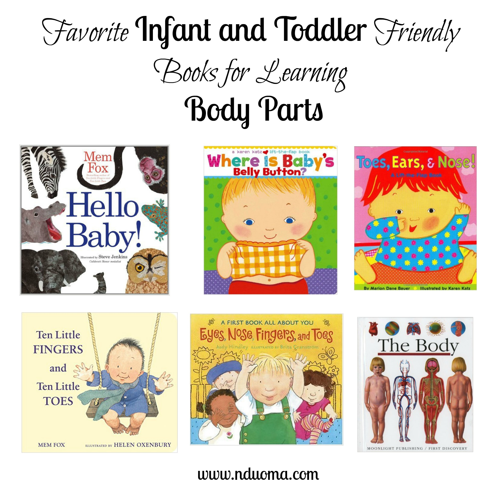 Favorite Infant And Toddler Books For Learning Body Parts