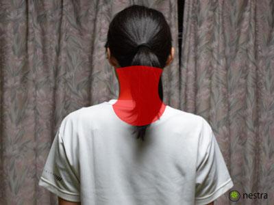 肩こり症状首