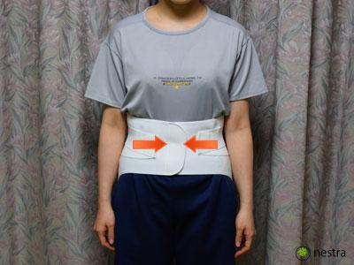 腰痛予防コルセット着け方4