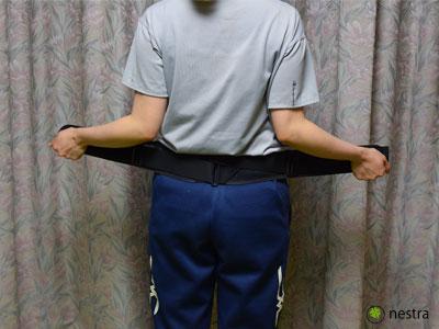 腰痛予防骨盤ベルト2