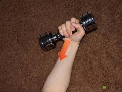 テニス肘治し方リストカール2