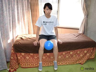 膝痛予防ボール