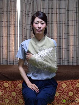 三角巾-巻き方ラップ