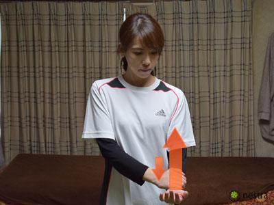 頚椎由来-見極め-肘の曲げ伸ばし