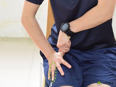 手の腱鞘炎-水掻きストレッチ5-2
