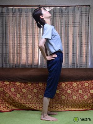 椎間関節性腰痛-後屈