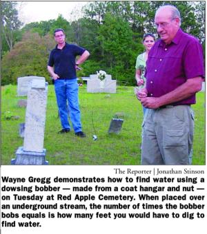 Grave dowsing.