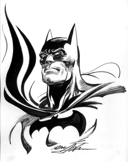 Neal Adams - Batman Bust - Inked