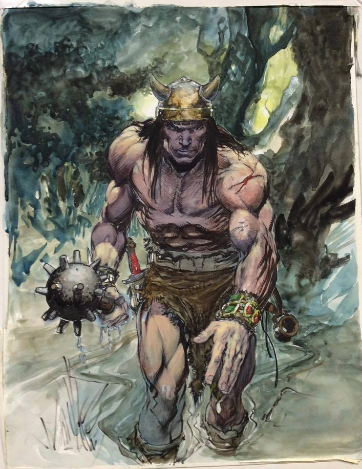 The Barbarian was done at the Kansas City Comic Con