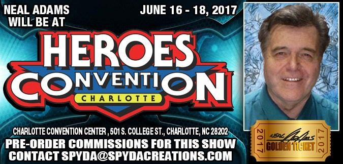 HeroesCon, Charlote, North Carolina, Neal Adams