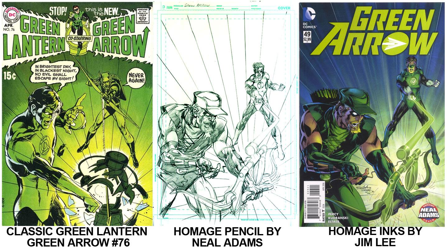 Green Lantern Green Arrow Neal Adams Homage, Inks by Jim Lee