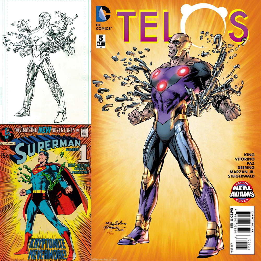 Neal Adams Month Variant Covers - Telos #9 - inks by Richard Friend