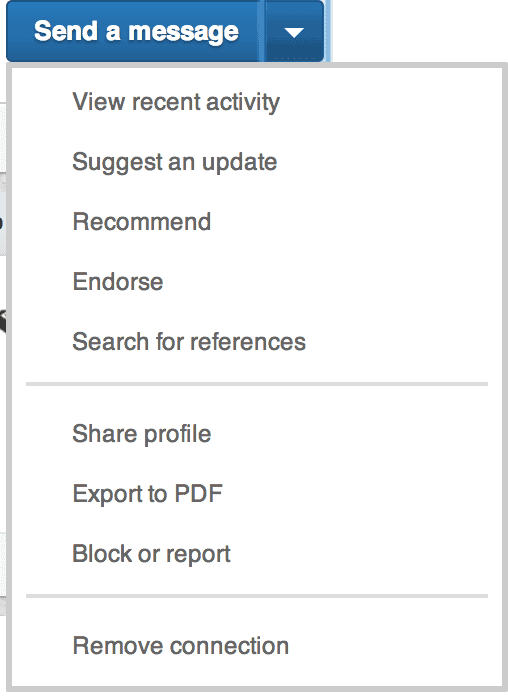 How to remove a LinkedIn connection from their profile