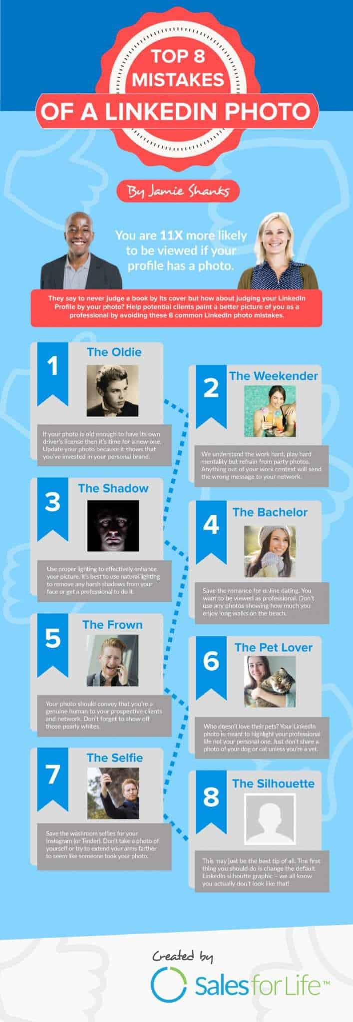 For more tips and advice on profile photos on LinkedIn, check out this infographic.