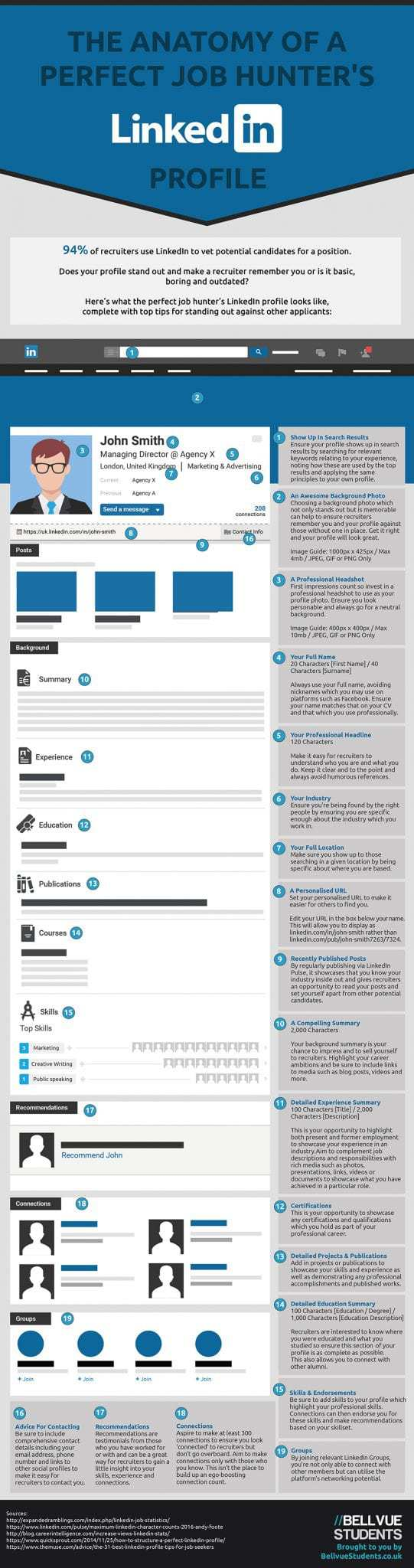 For more tips on how to optimise your LinkedIn profile and get noticed, check out this infographic.