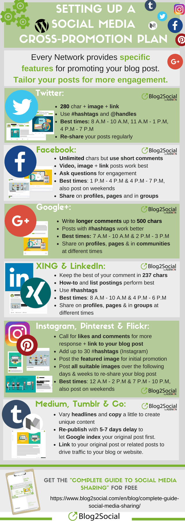 Learn more about social media cross-promotion in this infographic.
