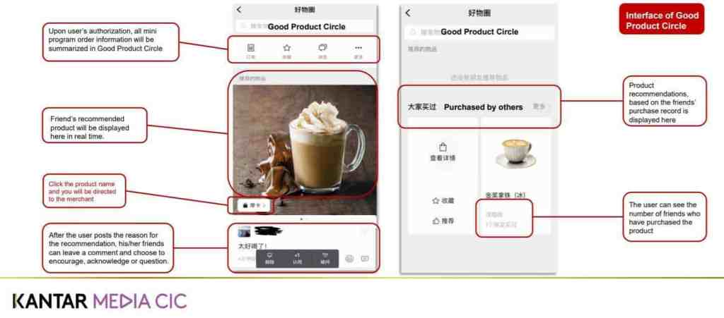 WeChat Good Product Circle shopping app in China