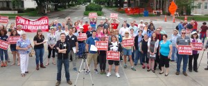 Supporters rallied at the Capitol on June 6, 2015 to urge State Senators to be part of a solution to close the coverage gap in Nebraska.