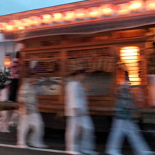 Summer festival in Mashiko nearby Tokyo