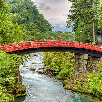 Shinkyo Bridge in Nikko nearby Tokyo