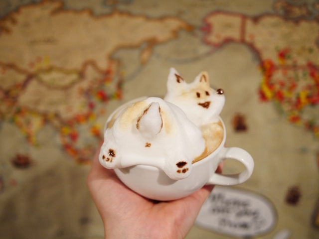 3D Latte from Cafe Reissue in Harajuku, Tokyo