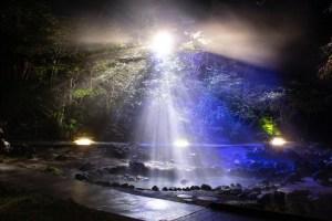 A night time view of Sainokawara Park near Tokyo (Kusatsu city travel guide)