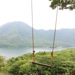 Wonderful view from a swing in Akagi area