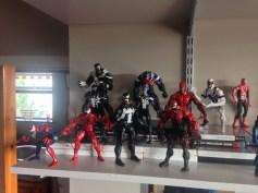 Symbiotes: Spider-Carnage, Carnage, Eddy Brock Venom, Patrick Mulligan's Toxin, Agent Venom, Superior Venom, Eddy Brock Toxin, Space Venom, Mac Gargan Venom, Anti-Venom