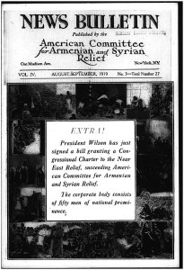 Magazine cover, American Committee for Armenian and Syrian relief