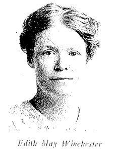 Winchester, Edith May of Fox Chase, Pa., was one of the first American nurses to enter Armenia after the war. She died from typhus at Erivan on May 17, 1919, being the first Near East Relief worker to give her life in service. She arrived in Erivan during the height of the typhus epidemic when Armenian refugees from Turkey were dying on the streets at a rate of 190 a day. Miss Winchester was the first to respond to the call of relief doctors to serve in an emergency typhus ward hastily opened. She contracted the disease and died within ten days, before her eagerly awaited mail from home reached. In her memory a nurses' training school has been opened at the Edith May Winchester Memorial Hospital in Alexandropol, Armenia. From this school have been graduated the first nurses registered in the Armenian Republic. All were former orphan wards of the Near East Relief. They will form the faculty of a new government training school and the nucleus for a newer established Armenian Public Health Service.