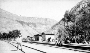 Train tracks in the Caucasus. Relief supplies were often transported to the orphanages on former Russian imperials trains. Trains were particularly important for landlocked relief centers in the Caucasus region.