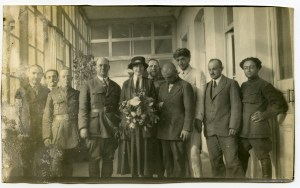 Ernest Yarrow and his wife, Jane Tuckley Yarrow, with Near East Relief staff. Yarrow was the Director General of Near East Relief in the Caucasus. The office was in Tiflis, Georgia.