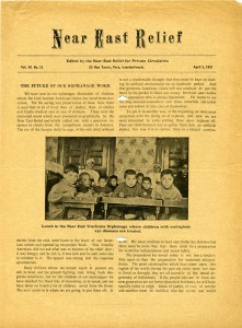 Near East Relief magazine produced for private circulation, April 1921, featuring the Trachoma Orphanage for contagious eye diseases