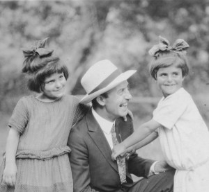 Barclay Acheson with two young girls