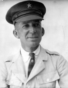 A portrait of an unknown male Near East Relief worker in uniform. The gentleman's hat bears the Near East Relief star.