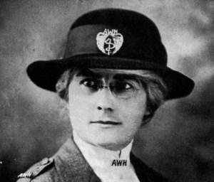 Dr. Mabel Elliott in her American Women's Hospitals uniform. Dr. Elliott sailed from the U.S. as part of the Leviathan party in February 1919; she was part of the first group of Near East Relief workers to enter the former Ottoman Empire after the Armistice. Dr. Elliott had an important career with Near East Relief as a loaned employee from American Women's Hospitals.
