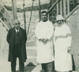 Rev Shiradjian, Dr. N. Ishkanian, and NER nurse Ellen M. Norton