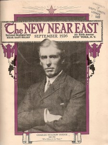 This issue pays tribute to Cleveland H. Dodge, one of the founders and key leaders of Near East Relief. Unfortunately, the issue went to press with a typo on the cover. It should read