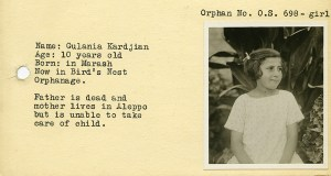 Identification card for Gulania Kardjian