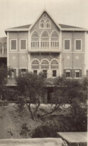 The Near East Relief personnel house in Beirut, c. 1923. The personnel house served as a temporary home for Near East Relief administrative workers at the Beirut office. It also offered temporary accommodations to visitors from other Near East Relief offices. Near East Relief volunteer Nellie Miller Mann lived in the personnel house in the early 1920s.